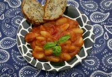 Gnocchi com um molho dos tomates Fotografia de Stock Royalty Free