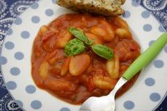Gnocchi com um molho dos tomates Foto de Stock Royalty Free