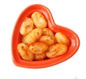 Gnocchi com um molho dos tomates Foto de Stock