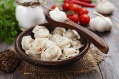 Gnocchi con carne Fotografia Stock