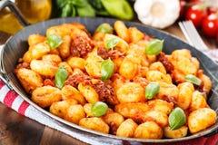 Gnocchi con pomodoro Stock Photo