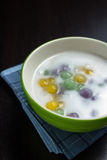 Gnocchi in crema della noce di cocco, Bua Loi, dessert della Tailandia fotografia stock