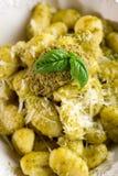 Gnocchi de Pesto Image libre de droits
