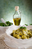 Gnocchi de Pesto Photographie stock