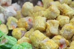 Gnocchi del gamberetto e della carne di maiale cotti a vapore cinese Immagine Stock Libera da Diritti