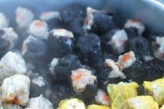 Gnocchi del gamberetto e della carne di maiale cotti a vapore cinese Fotografia Stock Libera da Diritti