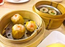 Gnocchi della carne di maiale cotti a vapore cinese Fotografia Stock Libera da Diritti