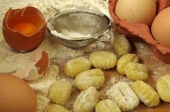 Gnocchi della pasta di Italien Immagine Stock
