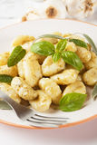Gnocchi di patata with basilico and pesto Royalty Free Stock Image