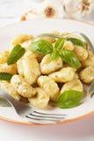 Gnocchi di patata with basilico and pesto Royalty Free Stock Image