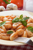 Gnocchi di patata with basilico and tomato sauce Stock Photos