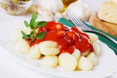 Gnocchi di patata, italian potato noodle Stock Images