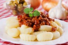 Gnocchi di patata, italian potato noodles Royalty Free Stock Image