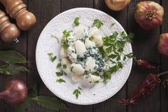 Gnocchi di patata, italian potato noodles Stock Images