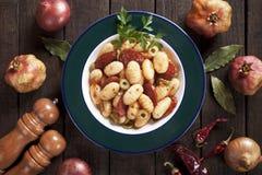 Gnocchi di patata, italian potato noodles Stock Image