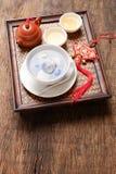 Gnocchi di Tang Yuansweet riempiti di sesamo nero Immagini Stock