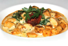 Gnocchi dish. Served for dinner stock images