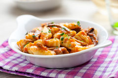 Gnocchi in a dish Stock Photography