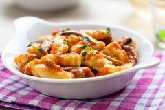 Gnocchi in a dish Royalty Free Stock Photo