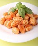 Gnocchi et sauce tomate Photo libre de droits