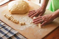 Gnocchi fait main Images libres de droits