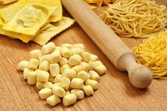 Gnocchi, fresh italian pasta Stock Photo