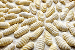 Gnocchi. Fresh raw Gnocchi close up Royalty Free Stock Photography
