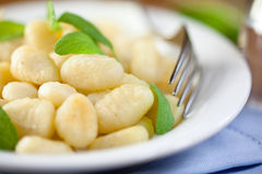 Gnocchi with fresh sage Stock Images