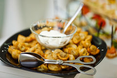 Gnocchi fritti Uzbeco Fotografia Stock