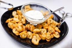 Gnocchi fritti Uzbeco Fotografia Stock Libera da Diritti