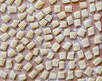 Gnocchi hecho casero crudo italiano de las pastas Fotos de archivo libres de regalías
