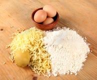 Gnocchi ingredients Stock Images