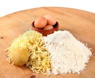 Gnocchi ingredients Stock Photography