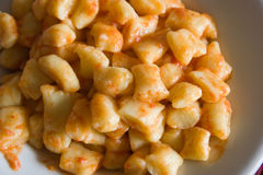 Gnocchi meal Stock Photography