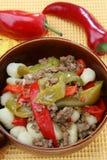 Gnocchi met paprika Royalty-vrije Stock Fotografie