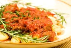 Gnocchi met Ragu stock foto