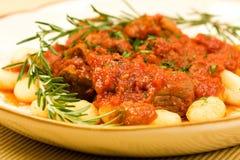 Gnocchi met Ragu royalty-vrije stock afbeelding