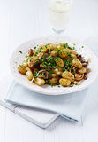 Gnocchi with Mushrooms and Fresh Parsley Stock Photography