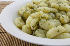 Gnocchi pasta close up Royalty Free Stock Images