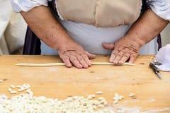 Gnocchi pasta of Sardinia Stock Photography