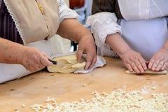 Gnocchi pasta of Sardinia Royalty Free Stock Photos