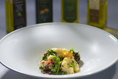 Gnocchi on a plate Stock Photography