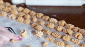 Gnocchi Preparation stock video
