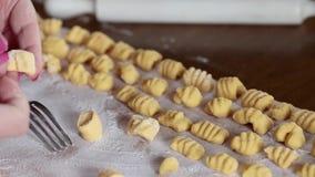 Gnocchi Preparation stock footage