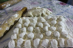 Gnocchi, ravioli Fotografia Stock