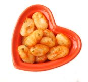 Gnocchi with a sauce of tomatoes Stock Photo