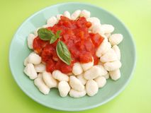 Gnocchi with a sauce of tomatoes Royalty Free Stock Photo