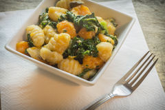 Gnocchi Squash Kale Stock Images