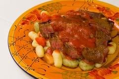gnocchi stek Zdjęcia Stock