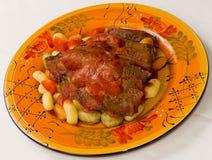 gnocchi stek Obrazy Royalty Free